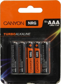 CANYON NRG Alkaline battery AAA LR03 (S6ALKAAA10) мизинчиковая (1шт.)