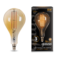 Лампа Gauss LED Vintage Filament 149802008 A160 E27 8W 2400K Golden