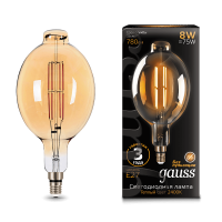 Лампа Gauss LED Vintage Filament 151802008 BT180 E27 8W 2400K Golden