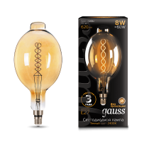 Лампа Gauss LED Vintage Filament 152802008 BT180 Flexible E27 8W 2400K Golden