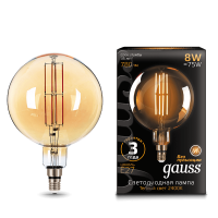 Лампа Gauss LED Vintage Filament 153802008 G200 E27 8W 2400K Golden