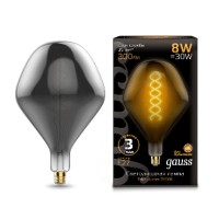 Лампа Gauss LED Vintage Filament 163802008 SD160 Flexible E27 8W 2400K Gray