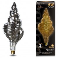 Лампа Gauss LED Vintage Filament 166802008 TL120 Flexible E27 6W 2400K